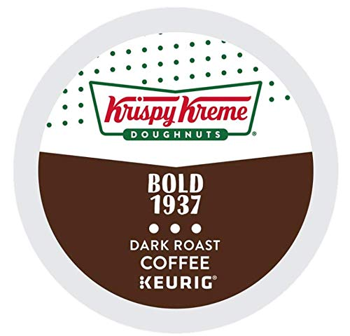 Krispy Kreme Doughnuts Coffee Bold 1937 dark roast, single serve capsules for Keurig K-Cup pod brewers (24 Count)