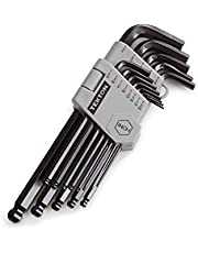 TEKTON Ball End Hex Key Wrench Set, 13-Piece (3/64-3/8 in.)   25262