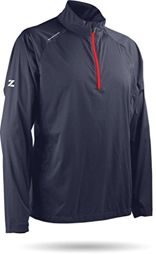 (Sun Mountain Zephyr LT Golf Pullover Navy/Red Small)