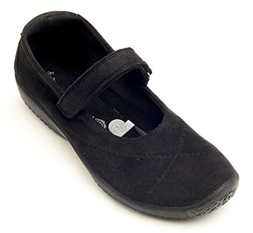- Arcopedico Womens L18 Black Suede Clog - 39