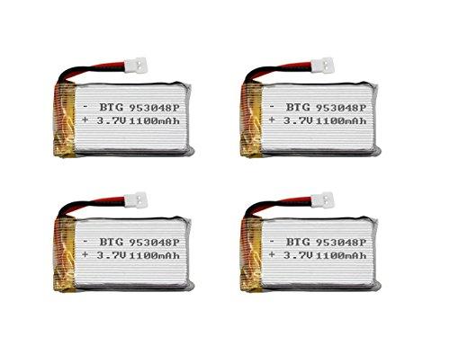 BTG 3.7V 1100mAh 25C Upgrade Rechargeabl