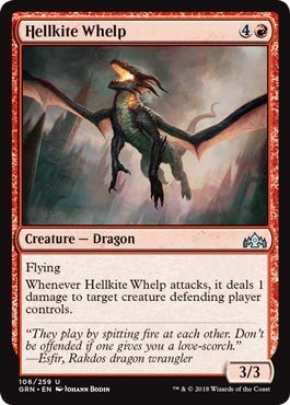 - Magic: The Gathering - Hellkite Whelp - Foil - Guilds of Ravnica - Uncommon