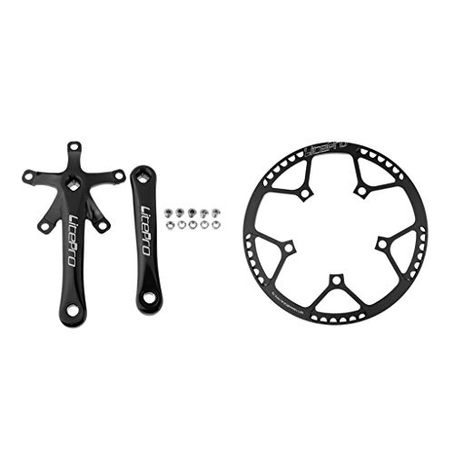 58T Explopur Bike Bicycle Chainring Folding Bike Single Crank Ring Round Chain Ring BCD 130MM 5 Bolts Chainring 53T 45T