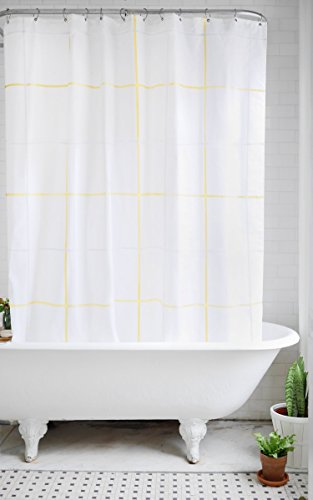 Bathage Minimal Pattern Fabric Shower Curtain - Exclusive Wa