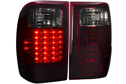 AJP Distributors Replacement Upgrade Led Stop Brake Tail Lights Lamps Pair For Ford Ranger 1993 1994 1995 1996 1997 1998 1999 2000 93 94 95 96 97 98 99 00 (Red Smoke)