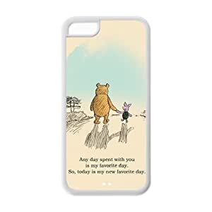 Winnie the Pooh iPhone 5c Case Pooh Bear and Piglet I love being with you Best Durable Case Cover for iPhone 5c