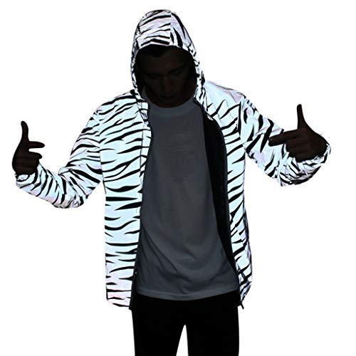 Mens High Visibility Jacket Windbreaker Jackets Hooded Streetwear Coat Goosun Breathable Waterproof Rain Coat – for…