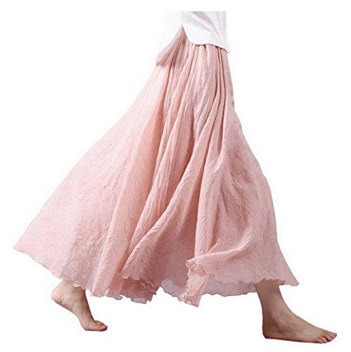 Taille Maxi Et Jupe Coton Wear Evedaily de Summer Femme Jupe Elgante Longue Shown As Plage Classique Elastique Casual Lin Picture The Pour Filles en FwAtIqtx
