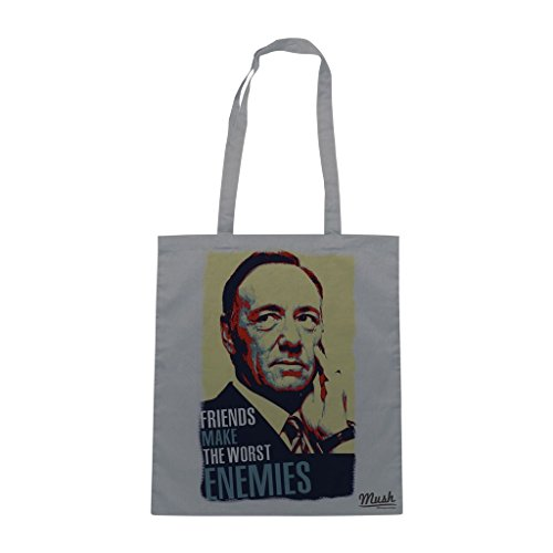 Borsa House Of Cards Friends Make The Worst Enemies - Grigia - Film by Mush Dress Your Style