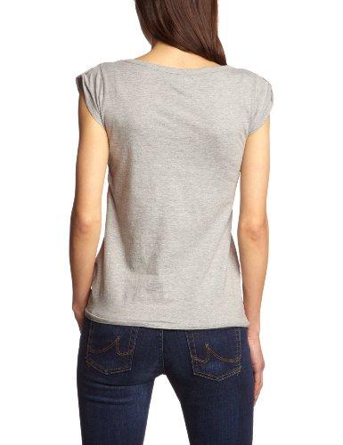 Only - Camiseta de manga corta para mujer Gris (Light Grey Melange Love Print)