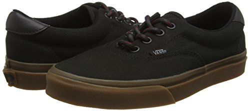 Amazon.com | Vans Unisex Era 59 Hiking Black/Gum Skate Shoes 6M Mens/7.5M Womens | Skateboarding