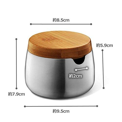 ZACK 20865 BEVO Zuckerdose Edelstahl matt und ge/ölter Bambus