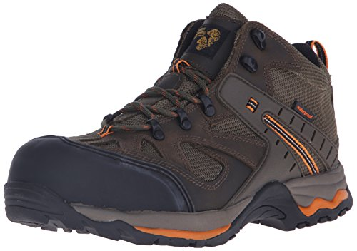 Golden Retriever Men's Waterproof Safety-Toe Casual/Work Hiking Boot,Sage Nubuck,12 M