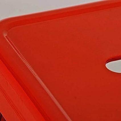 CLP Sgabello Bar Joshua in Metallo Sgabello Design Industriale e Scandinavian I Sgabello Senza Schienale Impilabile I Sgabello da Bancone H 77 cm I Sgabello Cucina con Poggiapiedi Arancione