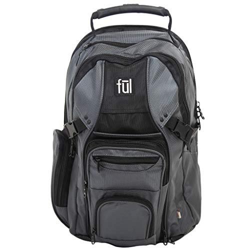 Ful Tennman Laptop Backpack, 17-Inch Laptop Sleeve, Titanium