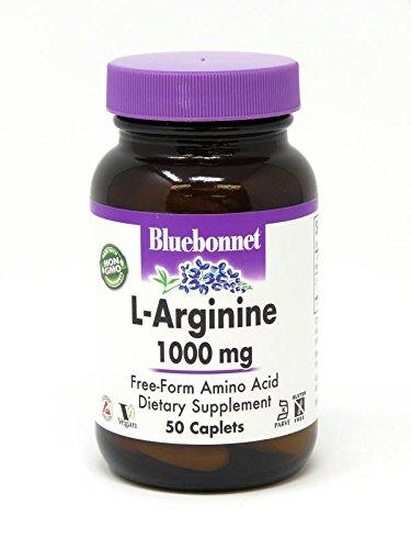 Bluebonnet L-Arginine 1000 mg Vitamin Capsules, 50 Count by Bluebonnet
