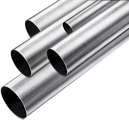 Edelstahl Rundrohr Edelstahlrohr V2A 1.4301 K240 Geschliffen 26,9x2mm 500mm