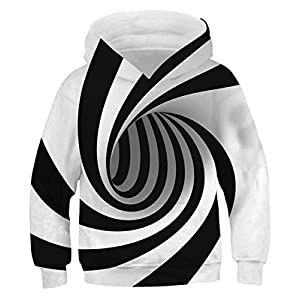 GLUDEAR Boys Girls 3D Print Graphic Sweatshirts Long Sleeve Pullover Hoodies