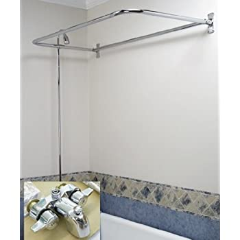 This item Add on Shower Set for Clawfoot Tub 54  Chrome Rectangular Shower  RodAdd on Shower Set for Clawfoot Tub 54  Chrome Rectangular Shower  . Add Shower To Clawfoot Tub. Home Design Ideas