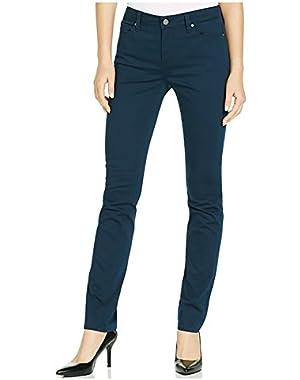 Ladies Sateen Mid-Rise Skinny Pant (Submerge Navy)