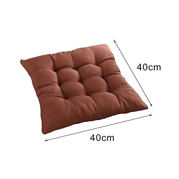 Bledyi, cuscino quadrato, comodo e resistente, per sedie da pranzo, da giardino, 40 x 40 cm Giallo. 5 spesavip