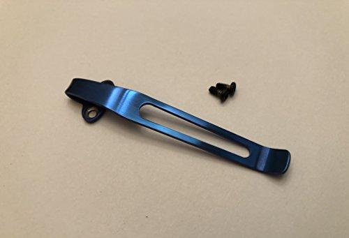 Anodized Blue Titanium Clip for Benchmade Griptilian Osborne Barrage Pardue Knives