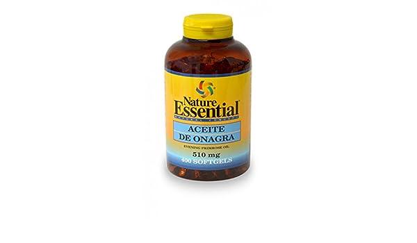 Aceite de onagra 500 mg. 400 perlas con vitamina E: Amazon.es: Salud y cuidado personal