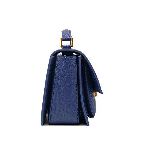 Sac Convient carré rétro pour Usage Simple Quotidien Asdflina capacité Bleu Retro bandoulière Grande à Un Sac à PU bandoulière gHcEpZvP
