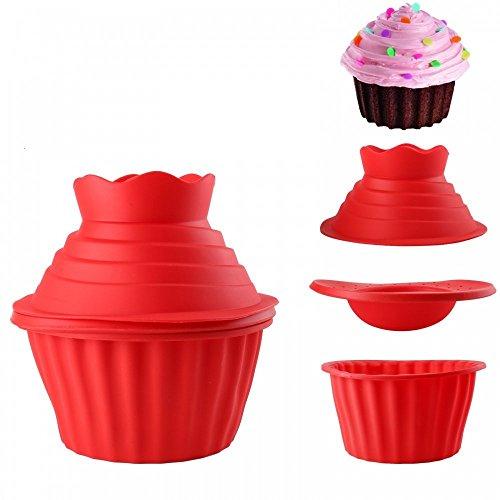 Top Cupcake Bake Set,Generic 3D Silicone Jumbo Giant Big Top Birthday Cupcake Cup Cake Mould,Bake Baking Maker