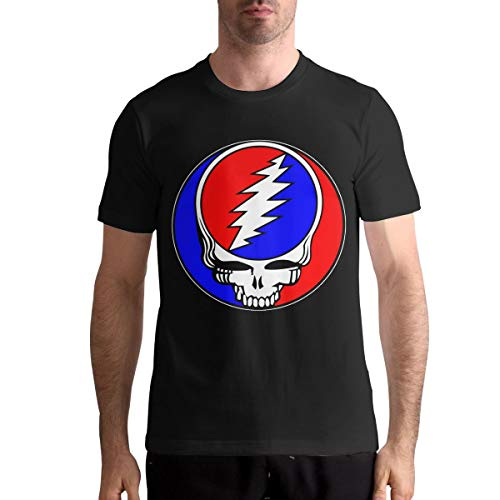 (CharlieRGill The Grateful Dead Mans Fashion T-Shirt Athletic 3XL Black )