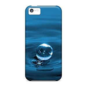 Awesome Design Blue Water Drops Hard Cases Covers For Iphone 5c
