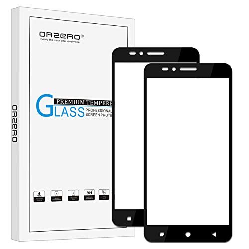 (2 Pack) Orzero Compatible for T-Mobile Revvl Plus Tempered Glass Screen Protector, 2.5D Arc Edges 9 Hardness HD Anti-Scratch Full-Coverage (Lifetime Replacement Warranty)
