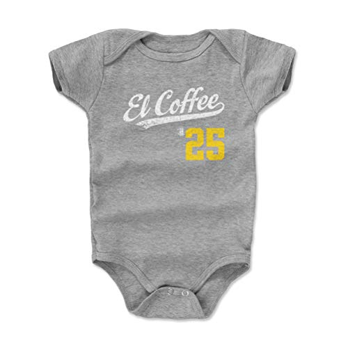 (500 LEVEL Pittsburgh Baseball Baby Clothes, Onesie, Creeper, Bodysuit - 12-18 Months Heather Gray - Gregory Polanco El Coffee Players Weekend Script Y WHT)