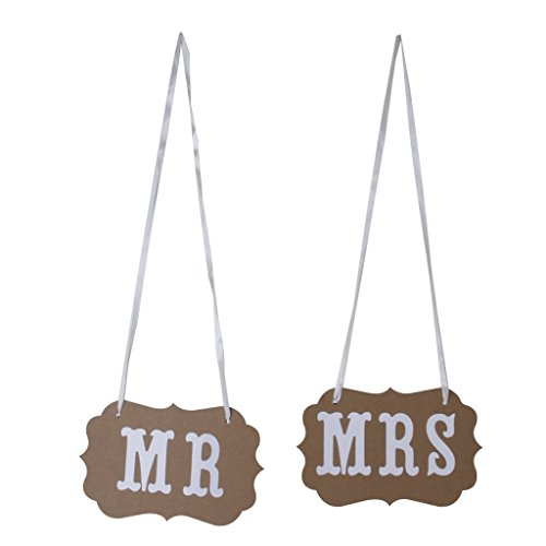 Hanging Banner Sign (MagicW Mr Mrs Bunting Wedding Banner Wedding Party Banner Garland Sign Photo Props Hanging D¨¦cor Wedding Party Decoration)