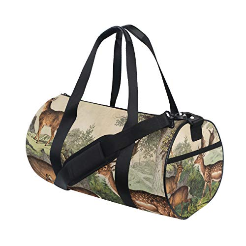 Deer Unisex's Duffel Bag Travel Tote Luggage Bag Gym Sports Luggage Bag by EVERUI (Image #5)