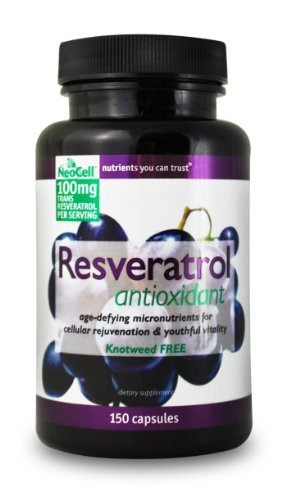 Le resvératrol antioxydant Neocell, 100 mg, 150 Capsules