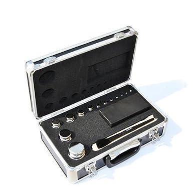 Cgoldenwall M1Class en acier inoxydable 304Digital Balance Poids de calibrage kit Outil de Lot de 11types optique, 11pcs 1g-200g, 1
