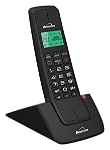 Binatone Designer 2102 Dect Cordless Phone   Black/Red, Single Part 92