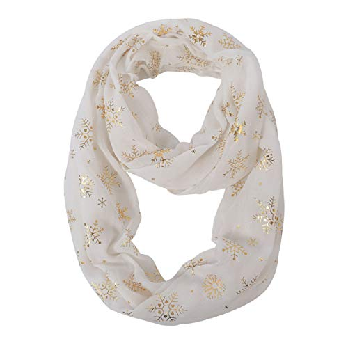 Women Lightweight Infinity Scarf Loop - Soft Light Thin For 2019 Winter New Design Fashion Print Scarfs CC Ideal Christmas Gift, bufandas de mujer para invierno (Lights 2019 For Christmas New)