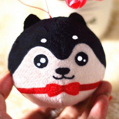 Los amantes Hebao peluches Moe dios perro coche Llavero colgante bolso joyas arrojar un pequeño regalo
