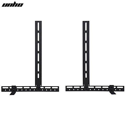 UNHO Universal Soundbar Bracket for Above or Below TV Fits