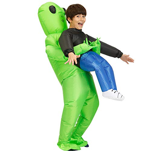 Decalare Alien Inflatable Costumes Unicorn Fancy Costume Halloween Cosplay Fantasy Costume for Adult/Kids (Kids-Et Alien)