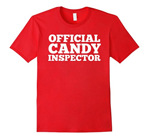 Mens Official Candy Inspector On Duty Shirt Halloween Costume XL (Quick Easy Halloween Costume Ideas For Guys)