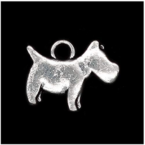 - Pack of 80 Dog Charms Pendants Silver Craft Supplies for Jewelry Making Tibetan Accessories for Bracelets Necklace DIY
