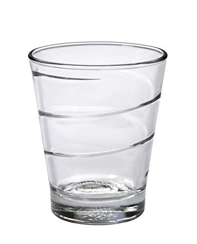 Duralex Made in France Spiral Glass Tumbler Drinking Glasses, 10.63 ounce - Set of 6, Clear |