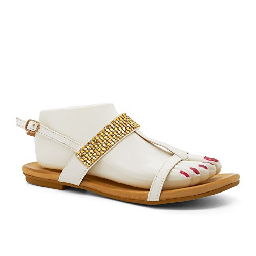 London Footwear - Zapatos con tacón mujer Blanco - blanco