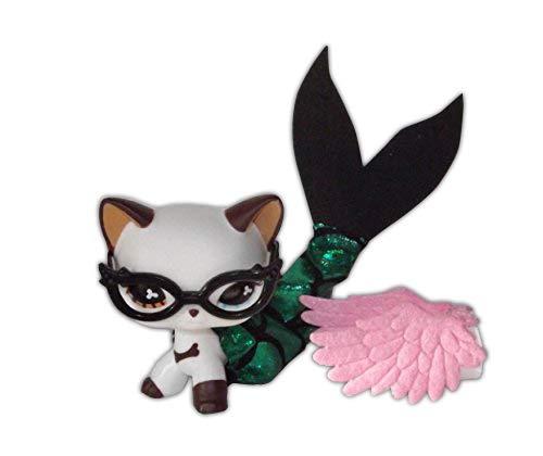 Noa Store Littlest Pet Shop Clothes LPS Accessories (3pc Set Mermaid Wings Glasses)