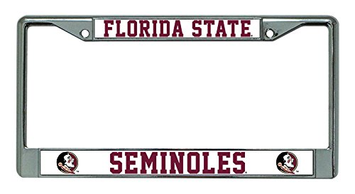 NCAA Florida State Seminoles Chrome License Plate Frame