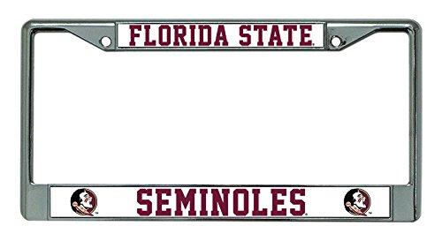 Florida State Seminoles Metal (NCAA Florida State Seminoles Chrome License Plate Frame)