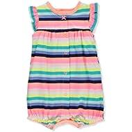 Baby Girl's Ground Rainbow Snap Up Cotton Romper